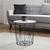 Couchtisch Josie mit Stauraum ca.40x41cm - Schwarz/Weiß, MODERN, Holz/Metall (40/41/cm) - Modern Living