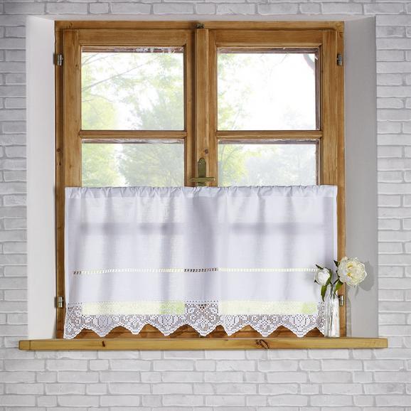 Gardine in Weiß ca. 50x100 cm 'Nora' - Weiß, KONVENTIONELL, Textil (50/100cm) - Bessagi Home