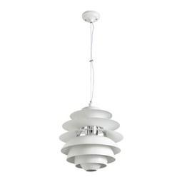 Hängeleuchte max. 60 Watt 'Citta' - Weiß, MODERN, Metall (40/180cm) - Bessagi Home