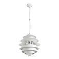 Pendelleuchte Citta - Weiß, MODERN, Metall (40/180cm) - Bessagi Home