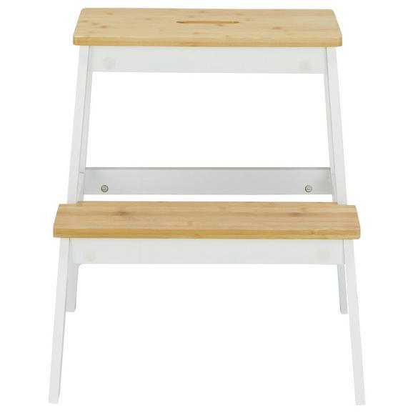 Hocker Weiß/Naturfarben - Naturfarben/Weiß, MODERN, Holz (43/47/43cm) - Mömax modern living