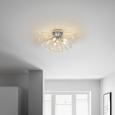 Deckenleuchte Fabi max. 40 Watt - Klar/Chromfarben, ROMANTIK / LANDHAUS, Kunststoff/Metall (58/30cm) - Premium Living