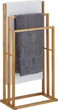 Handtuchhalter aus Bambus in Natur - Beige/Naturfarben, MODERN, Holz (42/82/24cm) - Mömax modern living