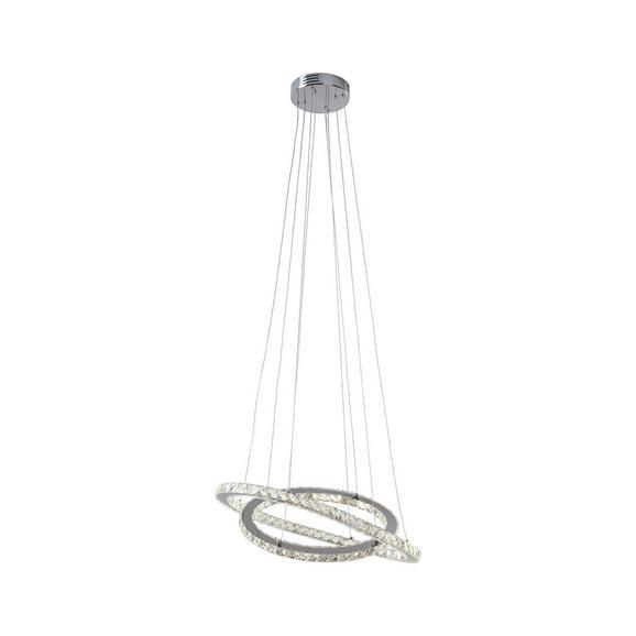 LED-Hängeleuchte Carmela aus Metall 1-flammig - Klar/Chromfarben, MODERN, Kunststoff/Metall (70cm)