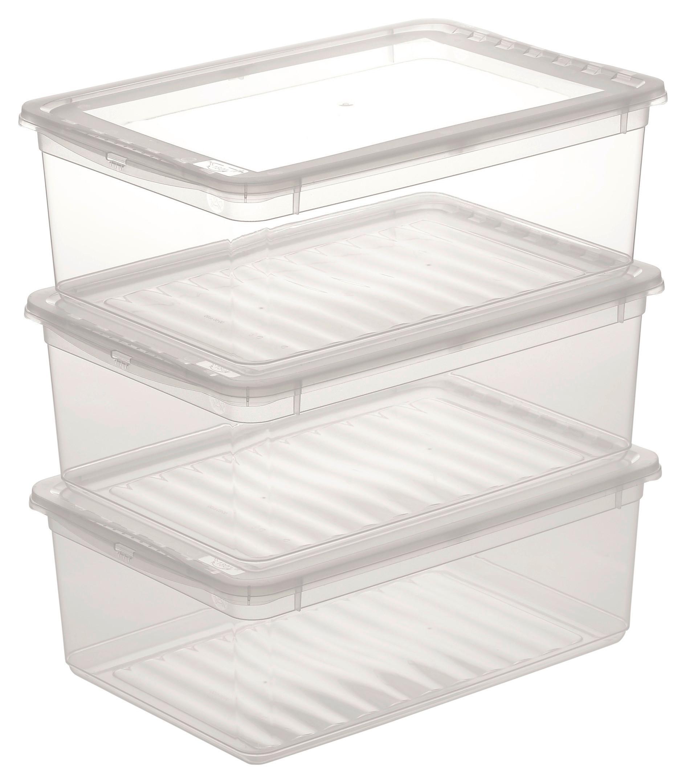 Image of Aufbewahrungsboxen-Set Beate 3-teilig ca. 11 l