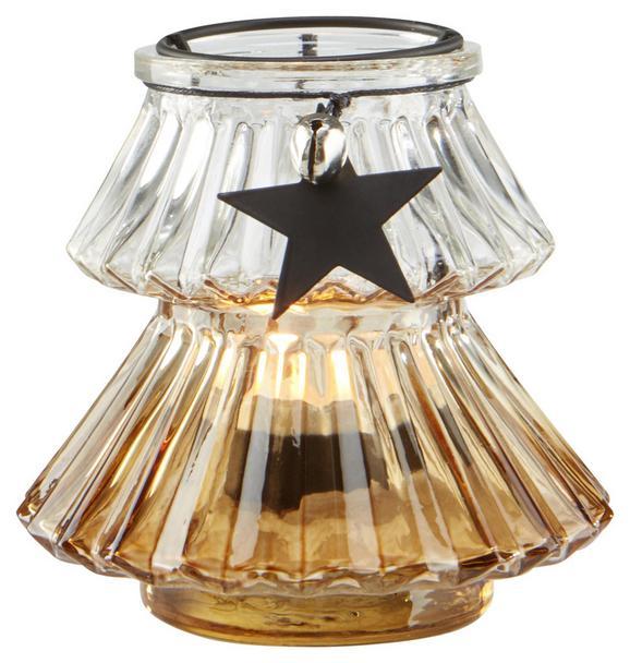 Teelichthalter Malva Ø/h ca. 11/10 cm - Klar/Silberfarben, MODERN, Glas/Metall (11/10cm) - Mömax modern living
