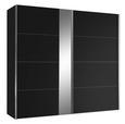 Omara Z Drsnimi Vrati Madrid - črna/krom, Konvencionalno, leseni material (200/216/68cm) - Premium Living