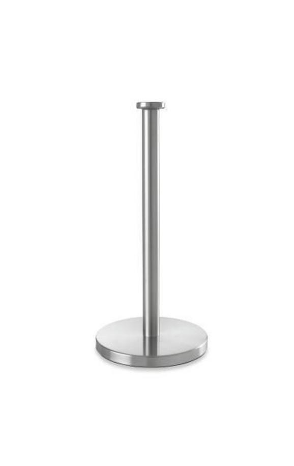 Küchenrollenhalter Edelstahl - Silberfarben, Metall (32cm) - Premium Living