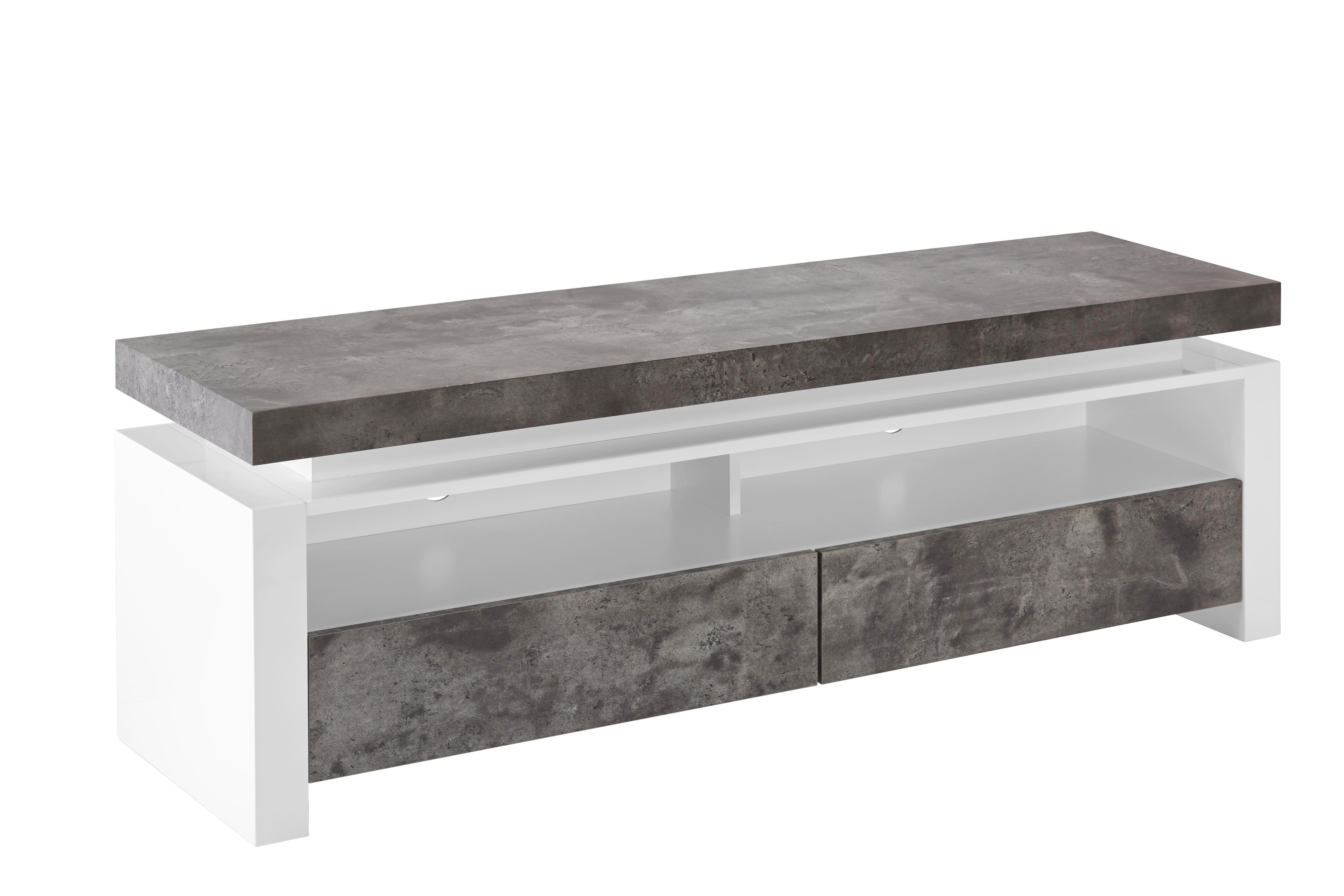 Lowboard in Grau/Weiß - Weiß/Grau, MODERN, Holzwerkstoff (140/49/40cm) - MÖMAX modern living