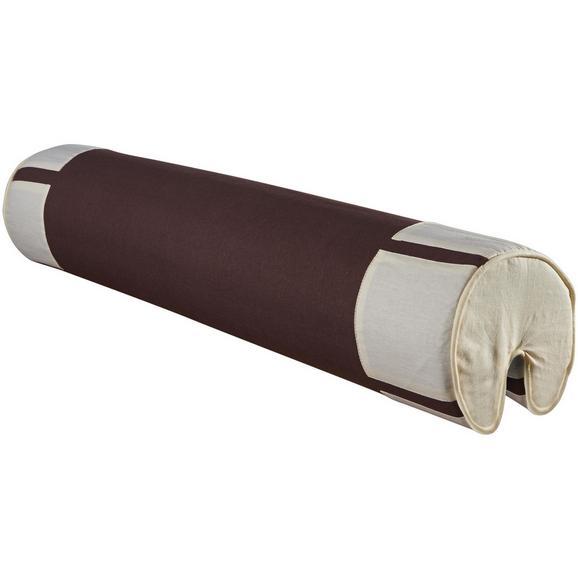 NACKENROLLE NACKENROLLE - Beige/Braun, Design, Textil (80/16/16cm)