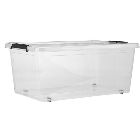 Škatla S Pokrovom Bruno - prozorna, umetna masa (57/39/25cm) - Mömax modern living