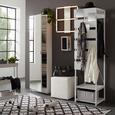 Ülőke Bali - Fehér, Textil (40/42/40cm) - Modern Living