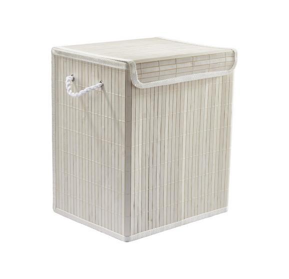 Wäschetonne Bamboo White in Weiß aus Holz - Weiß, Holz (33/23/38cm) - Mömax modern living