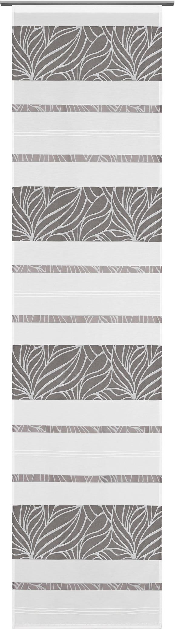 Panelna Zavesa Anita - siva, Konvencionalno, tekstil (60/245cm) - Modern Living