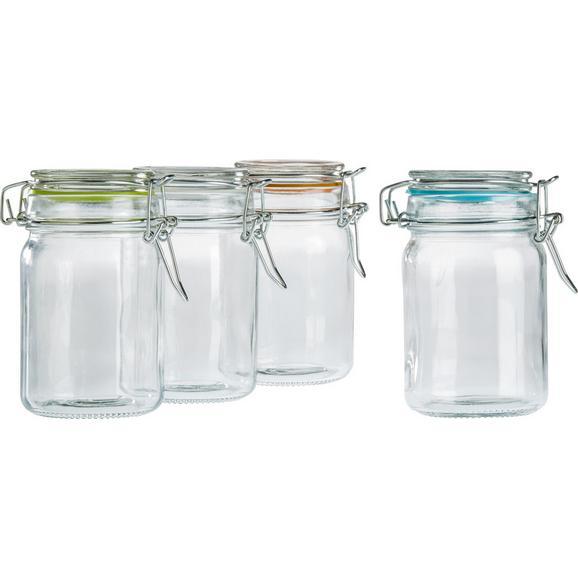 Vorratsglas Mimi ca. 75ml - Türkis/Klar, Glas/Kunststoff (4,3/8,5cm) - Mömax modern living