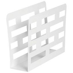 Zeitungsständer Weiß - Weiß, Metall (35/26/10cm) - Mömax modern living