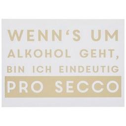 Postkarte Wenn's um Alkohol geht - Goldfarben/Weiß, MODERN, Papier (14,8/10,5cm)