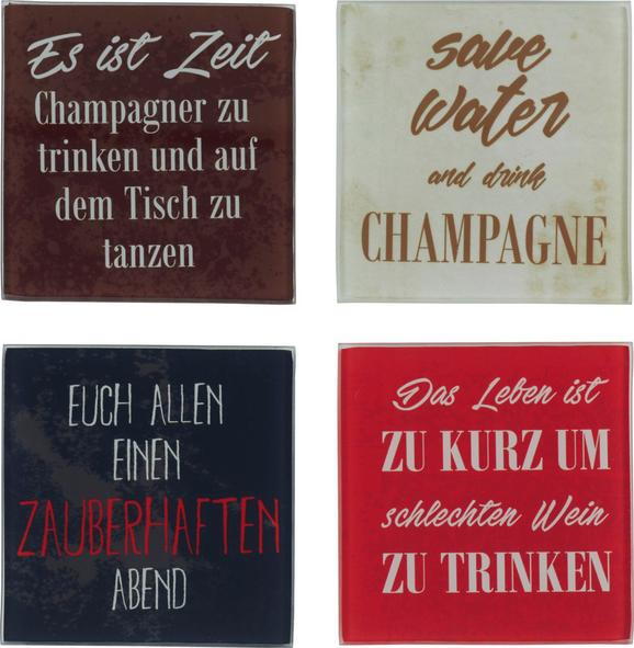 Glasuntersetzer Vinas Verschiedene Motive - Multicolor, Glas (10/10cm) - Mömax modern living