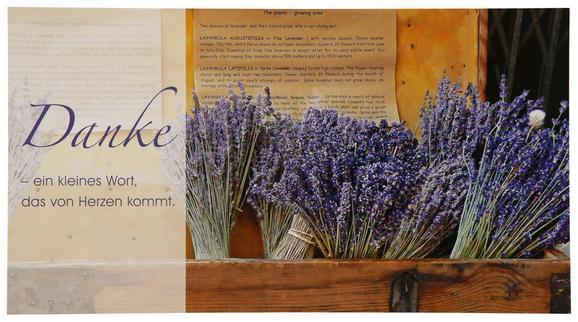 Postkarte Michael, ca. 12,5x23cm - Violett/Multicolor, Papier (12,5/23cm) - MÖMAX modern living