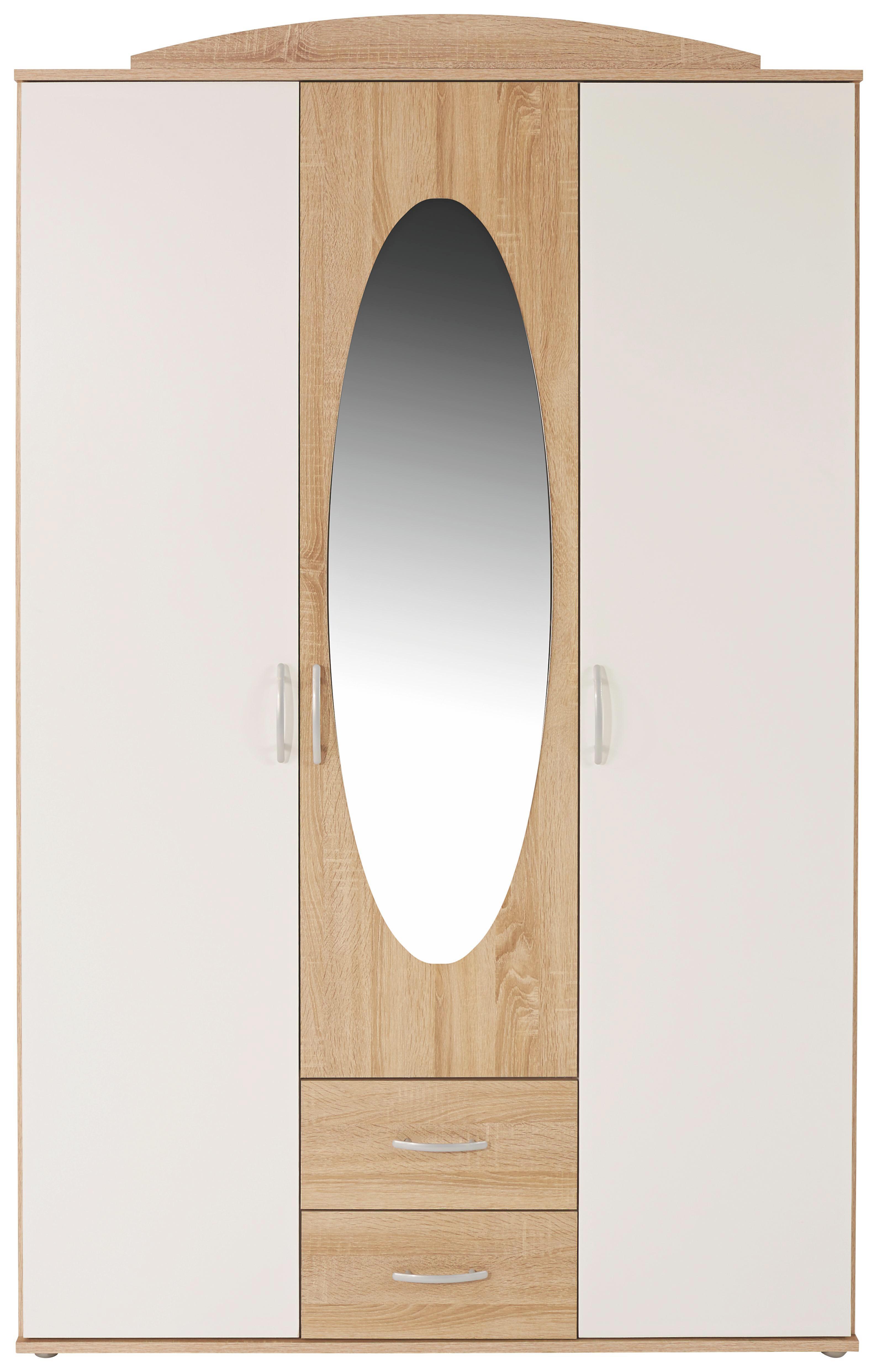 Ruhásszekrény Touch - fehér, konvencionális, faanyagok (127/196/52cm)