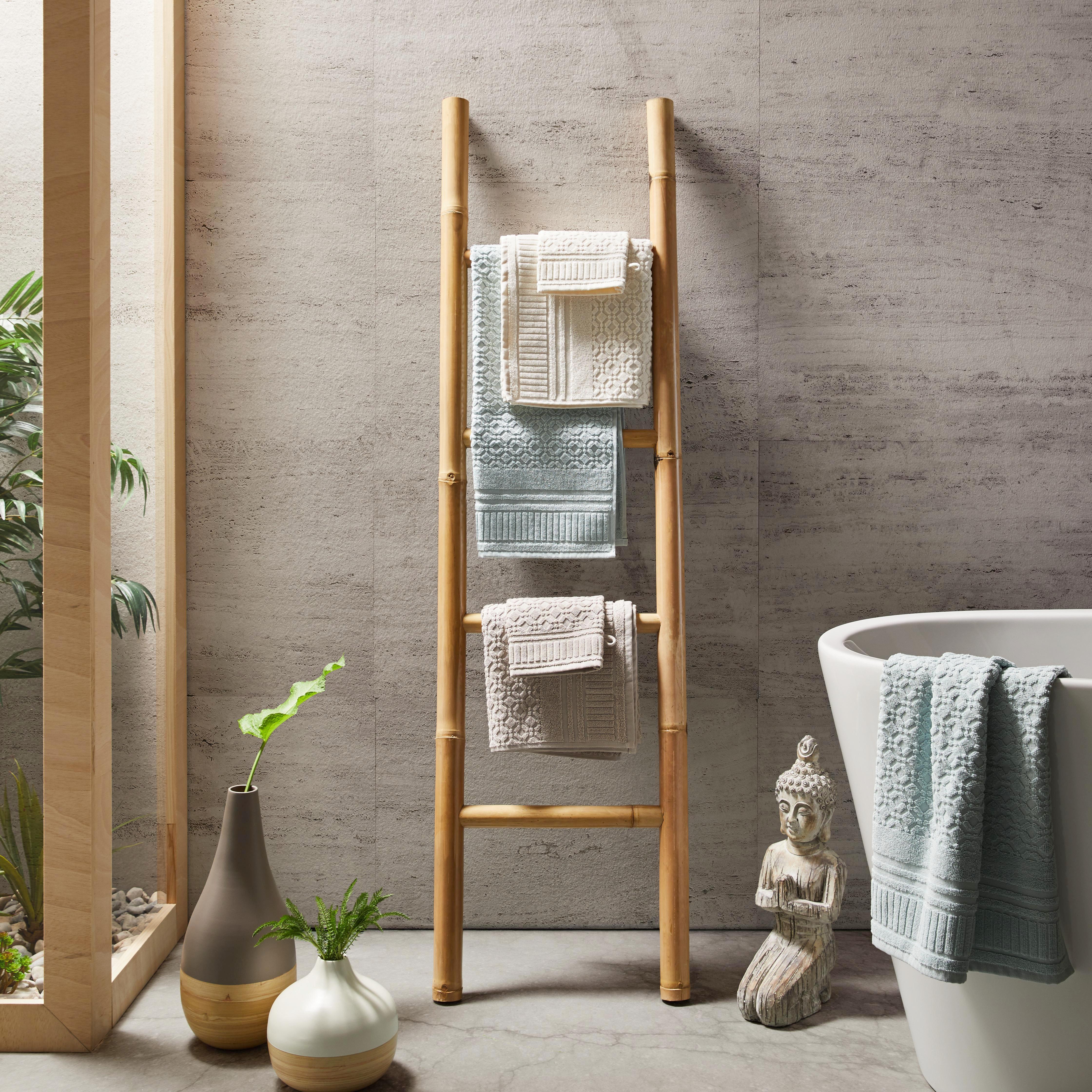 Gästetuch Carina - Weiß, ROMANTIK / LANDHAUS, Textil (30/50cm) - MÖMAX modern living