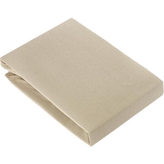 Spannbetttuch Basic Grau ca. 180x200cm - Beige, Textil (180/200cm) - Mömax modern living