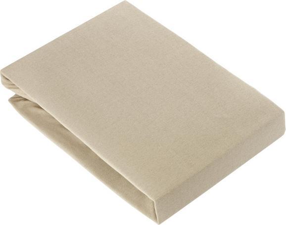 Spannleintuch Basic in Grau, ca. 180x200cm - Beige, Textil (180/200cm) - Mömax modern living