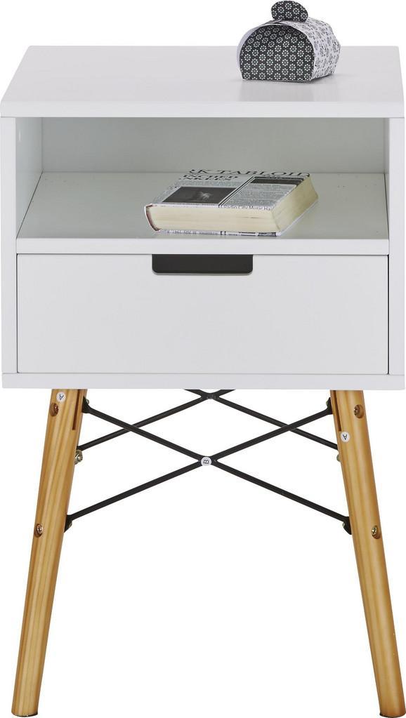 Kommode Weiß - Weiß/Naturfarben, MODERN, Holz/Holzwerkstoff (40/61/40cm) - Mömax modern living