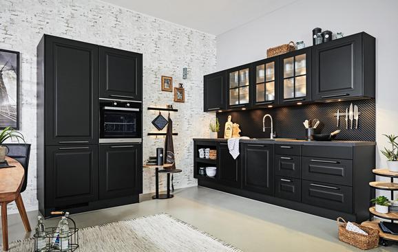 Kotna Kuhinja Sylt - črna (125/290cm)