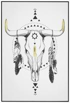 Slika Denise - črna/bela, leseni material/tekstil (61,4/91,4/3,5cm) - Modern Living