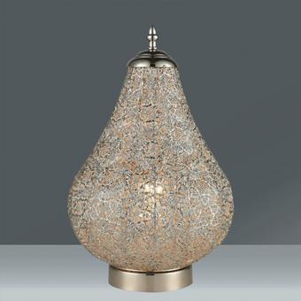 Namizna Svetilka Orient 8 - nikelj, Trendi, kovina (23/38cm) - Mömax modern living