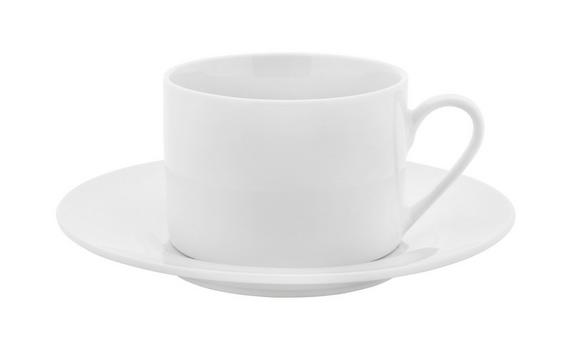 Kaffeetasse mit Untertasse Adria in Weiß - Weiß, KONVENTIONELL, Keramik (15,8cm) - Mömax modern living