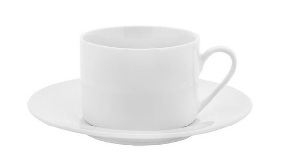 Kávéscsésze Alátéttel Adria - fehér, konvencionális, kerámia (15,8cm) - MÖMAX modern living