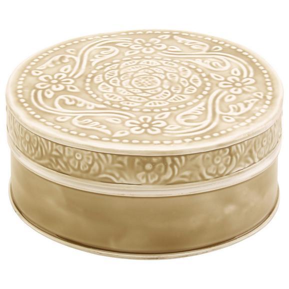 Dekorativna Škatla Lila - siva/črna, Romantika, kovina (20,5/7,5cm) - Mömax modern living