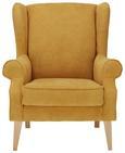 Fotelj Viola - naravna/rumena, tekstil (82/95/48/85cm) - Modern Living