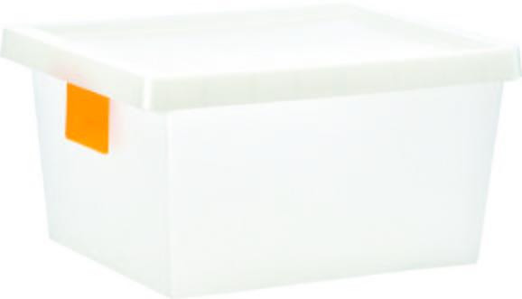 Doboz Tetővel Írható Kártyával - Áttetsző, konvencionális, Műanyag (41/33/22cm) - Mömax modern living