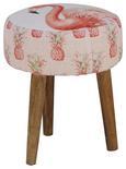Hocker in Rosa - Pink/Rosa, LIFESTYLE, Holz/Textil (37/37/45cm) - MÖMAX modern living