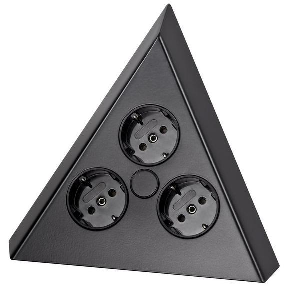 Steckdosenelement 412955 Schwarz - Schwarz (20,8/16/12cm)