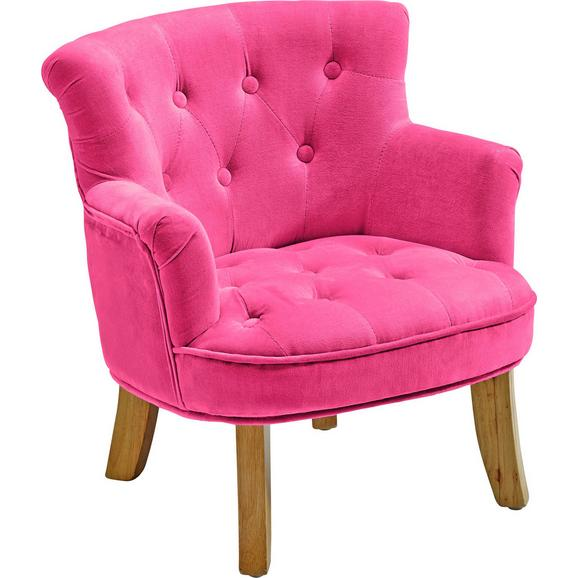 Kindersessel aus Samt in Pink - Pink, ROMANTIK / LANDHAUS, Textil (48,5/49,5/53cm) - Premium Living