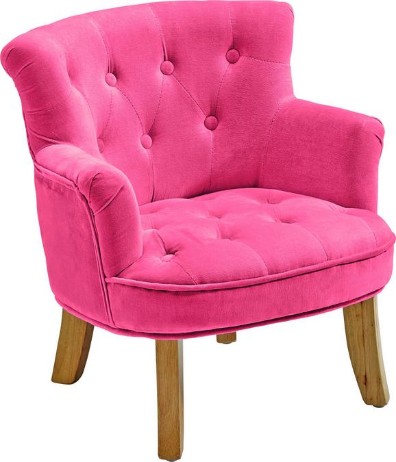 Kindersessel in Pink, ca. 49x50x53cm - Pink, ROMANTIK / LANDHAUS, Textil (49/50/53cm) - premium living