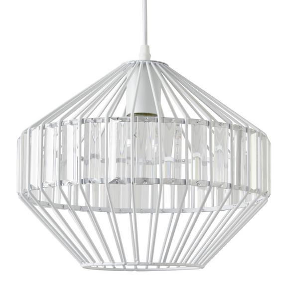 Viseča Svetilka Lucy - bela, Trendi, kovina/steklo (30/120cm) - Modern Living