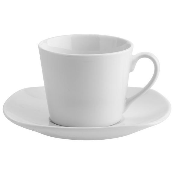 Kávéscsésze Csészealjjal Sid - Fehér, modern, Kerámia (0,22l) - Mömax modern living