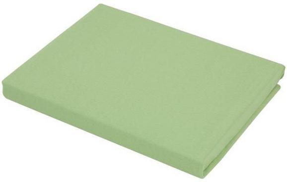 Spannbetttuch Basic in Grün, ca. 100x200cm - Grün, Textil (100/200cm) - MÖMAX modern living