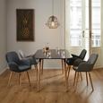 Tisch Anuk ca. 160x90 cm - Schwarz, MODERN, Holz (160/75/90cm) - Modern Living