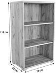 Pisarniški Regal Profi - hrast, Moderno, leseni material (75/113/35cm) - Mömax modern living