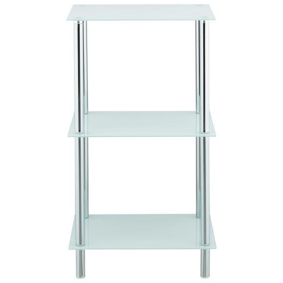 Regal Fina 1 - bela/krom, Moderno, kovina/steklo (40/72/30cm) - Mömax modern living