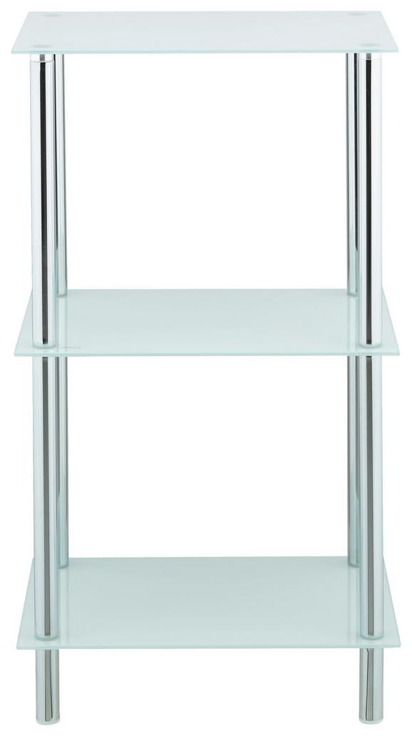 Regal Weiß - Chromfarben/Weiß, MODERN, Glas/Metall (40/72/30cm) - Mömax modern living