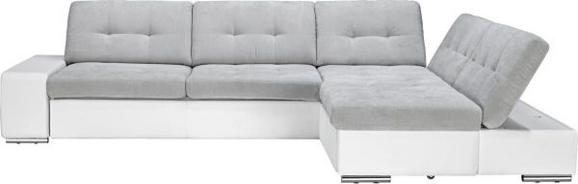 Sedežna Garnitura Velato - siva/bela, kovina/umetna masa (310/78/98/200cm) - Mömax modern living
