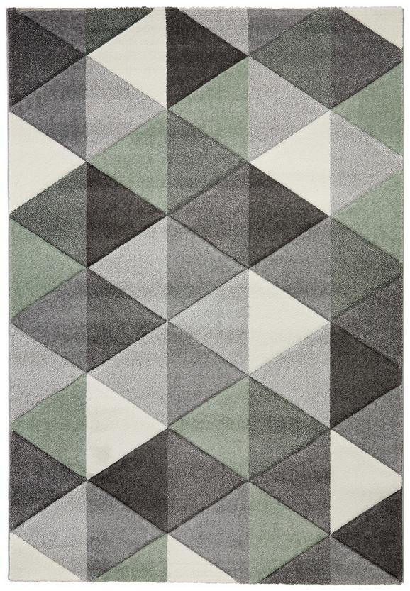 Tkana Preproga Rom 1 - siva/zelena, tekstil (080/150cm) - Mömax modern living