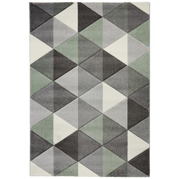 Tkana Preproga Rom 2 - siva/zelena, tekstil (120/170cm) - Mömax modern living